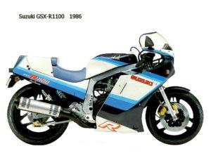 Suzuki GSX-R 1100 1986 datasheet